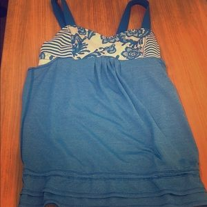Lululemon Stripped & Floral Tank Top